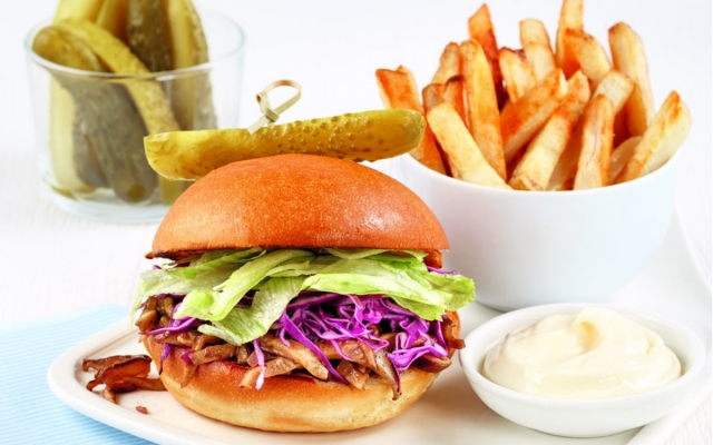 Shiitake teriyaki burger
