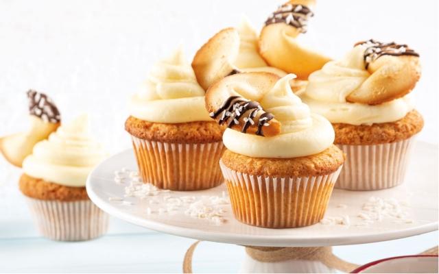 Exotic coconut cupcakes