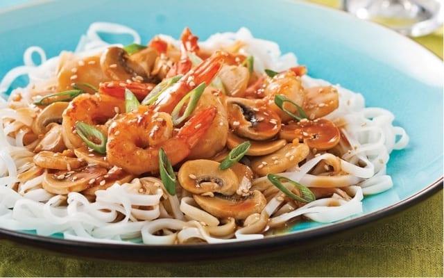 Shrimp Teriyaki Stir-fry with Rice Noodles