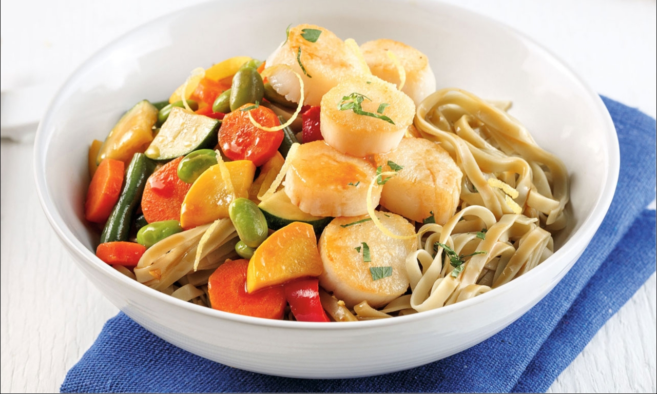 Ginger Scallops Stir-Fry