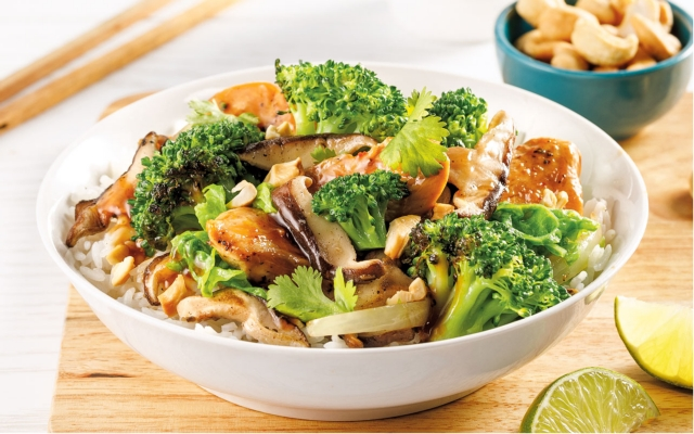 Chicken sauté with shiitake mushrooms
