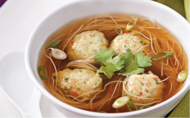 Chinese shrimp and crab ball soup