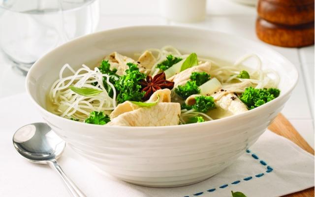 Chicken soup-fondue