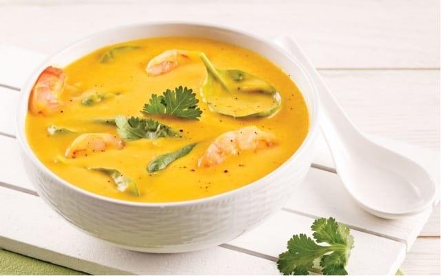 Soupe Thaï aux crevettes et courge