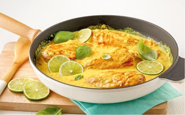 Casserole de poulet aulaitdecoco et lime