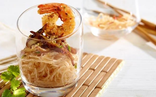 Crevettes à la Thaï en verrine