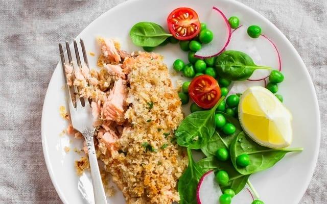 Filets de saumon en croûte Panko