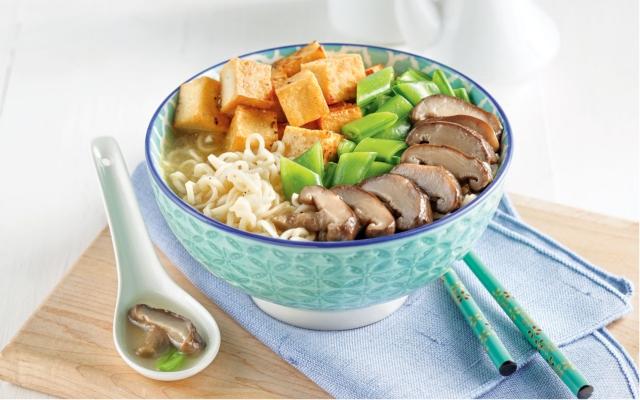 Tofu and Shiitake Ramen Soup