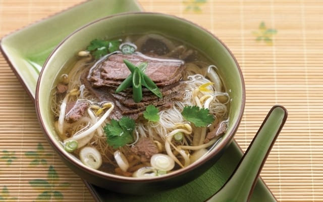 Vietnamese Beef Soup with Rice Noodles