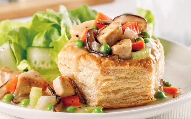 Creamy Chicken Shiitake Vol-Au-Vent